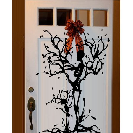 Decal ~  Skeleton Tree, Mom and Kid ~ Halloween Decal  20