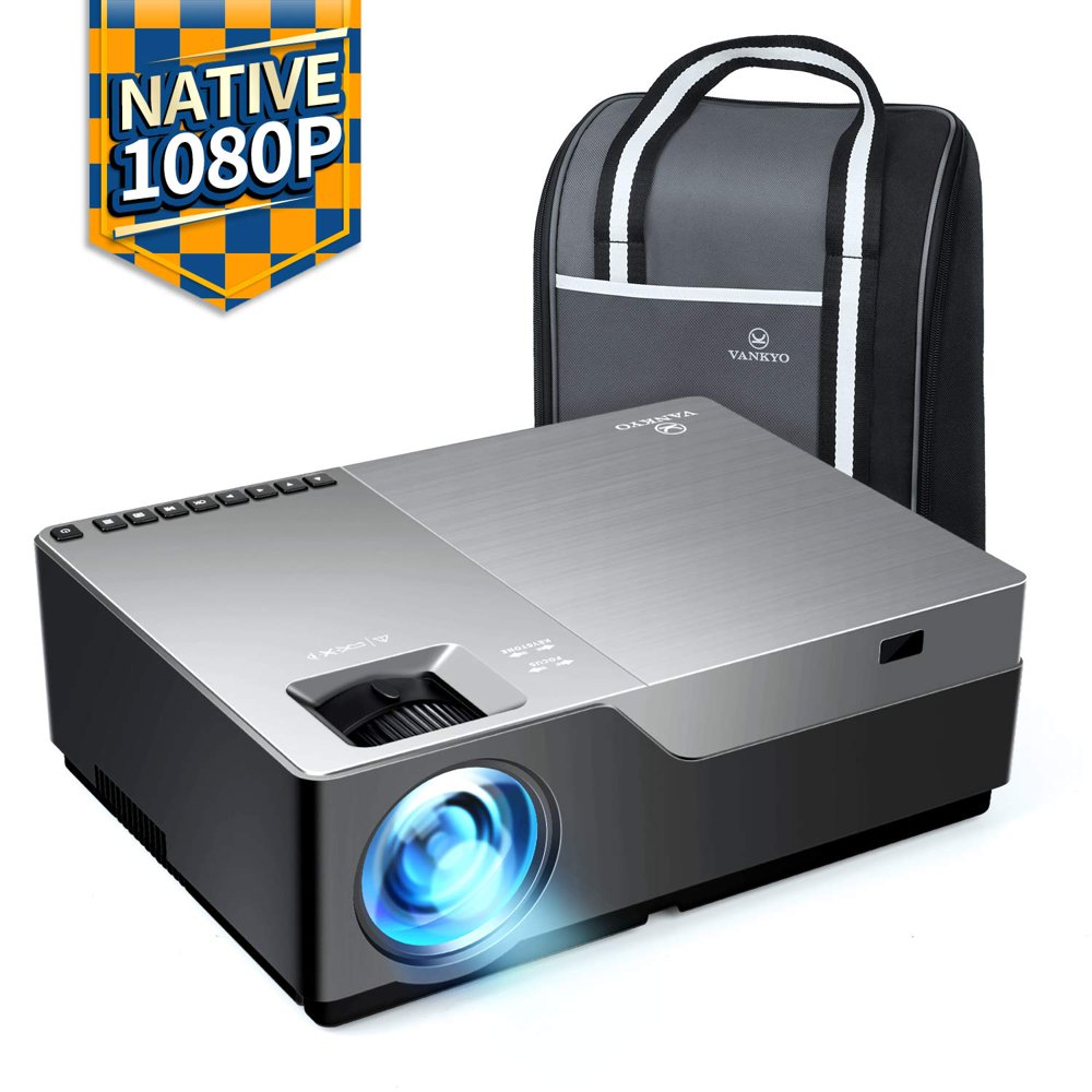"""VANKYO Performance V600 Native 1080P LED Projector, HDMI Projector with 300""""Display Compatible TV Stick, HDMI, VGA, USB, Xbox, Laptop, iPhone Android for PowerPoint Presentation"""