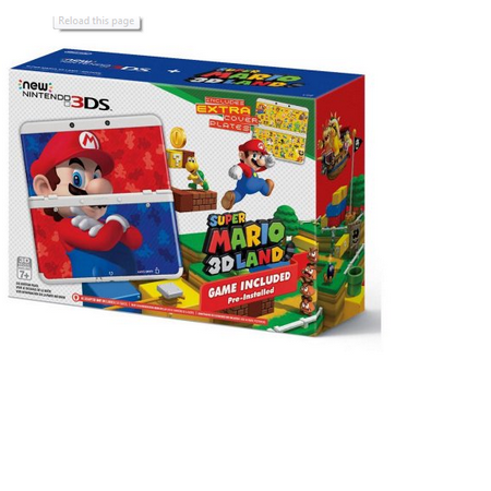 New Nintendo 3Ds Super Mario 3D Land Edition Bundle