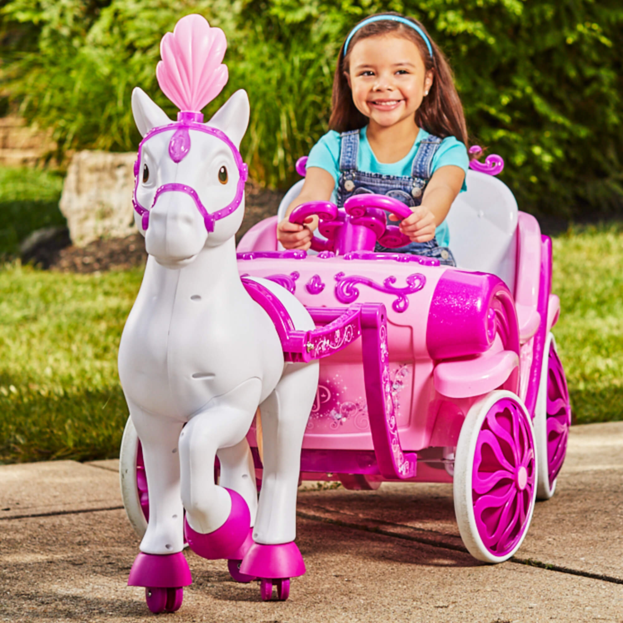 Disney Princess Royal Horse and Carriage Girls 6V Ride-On Toy by Huffy by Huffy