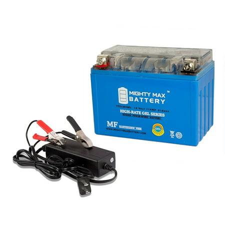 YTZ12S GEL Battery Replaces Suzuki GSXR750 GSXR1000 + 12V 2Amp Chargr