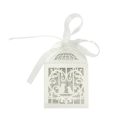 Wrapables® Love Birds Wedding Party Favor Boxes Gift Boxes with Ribbon (Set of 50), White - 50 Party Ideas