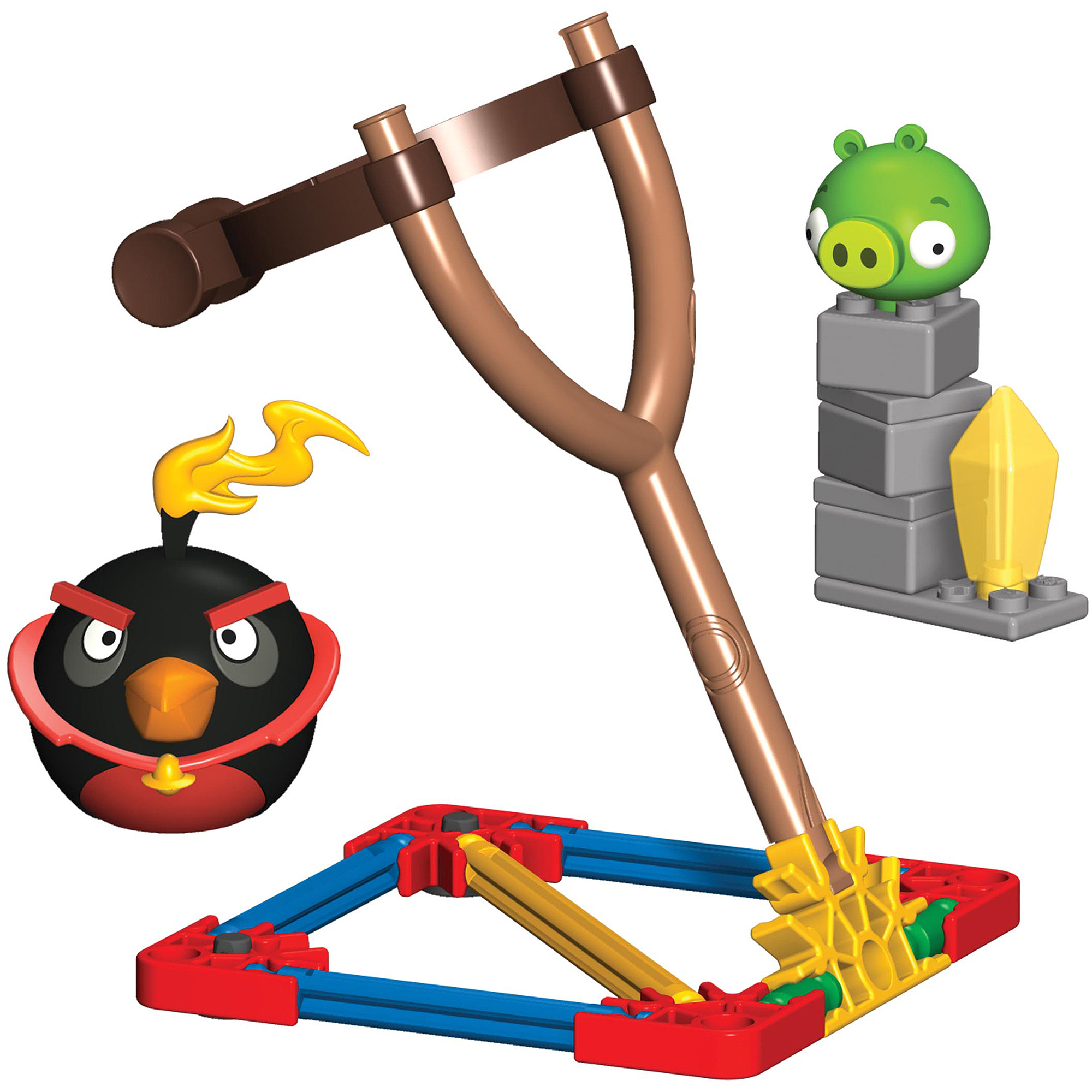 K'NEX Angry Birds Space Building Set: Fire Bomb Bird vs. Small Minion Pig