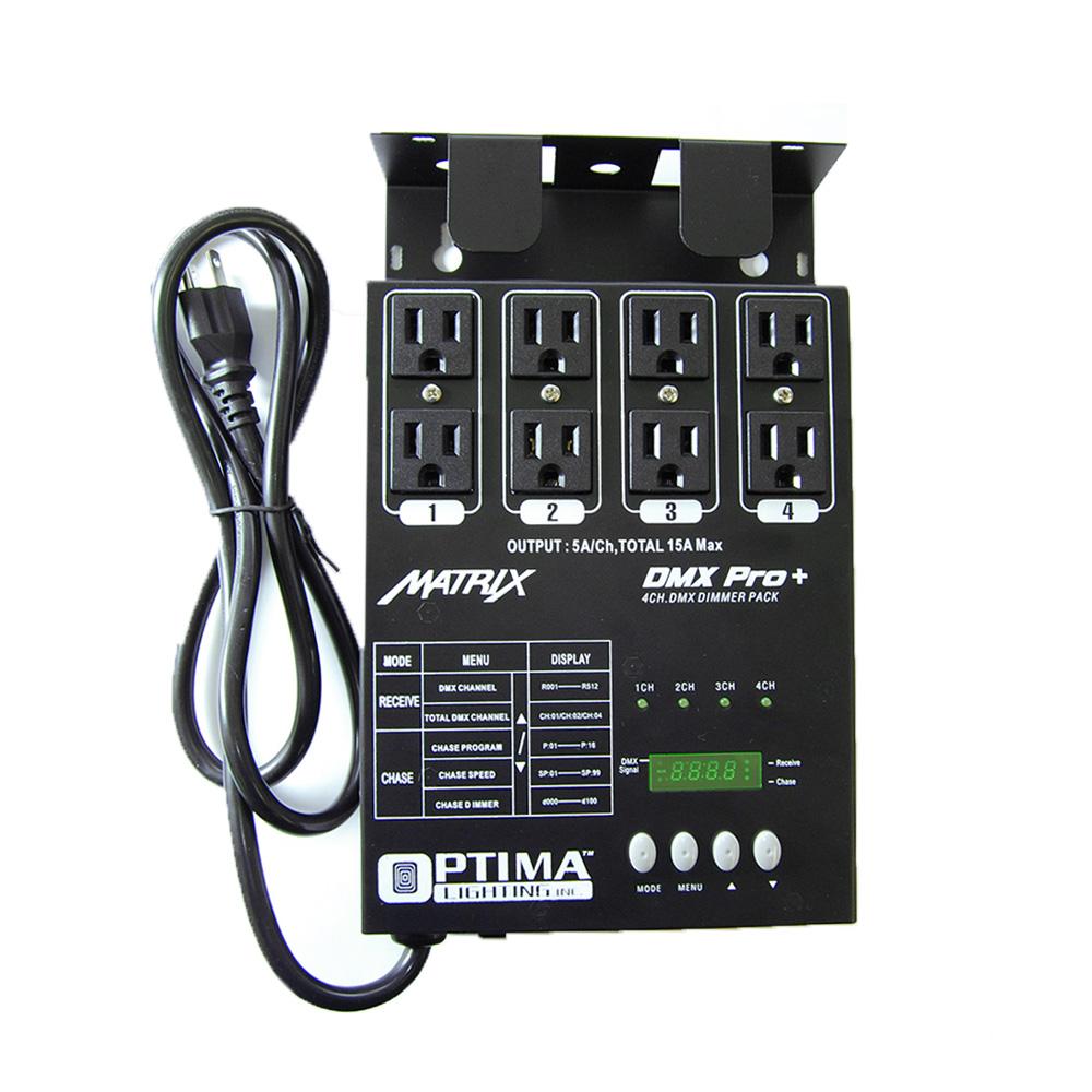 4 pcs. MATRIX DMX PRO 4 Channel Double Output Dimmer Pack Package Deal