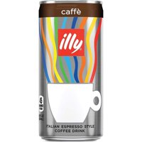 illy Ready To Drink Iced Coffee, Caffe, 6.8 Fluid Ounce, 12 Pack