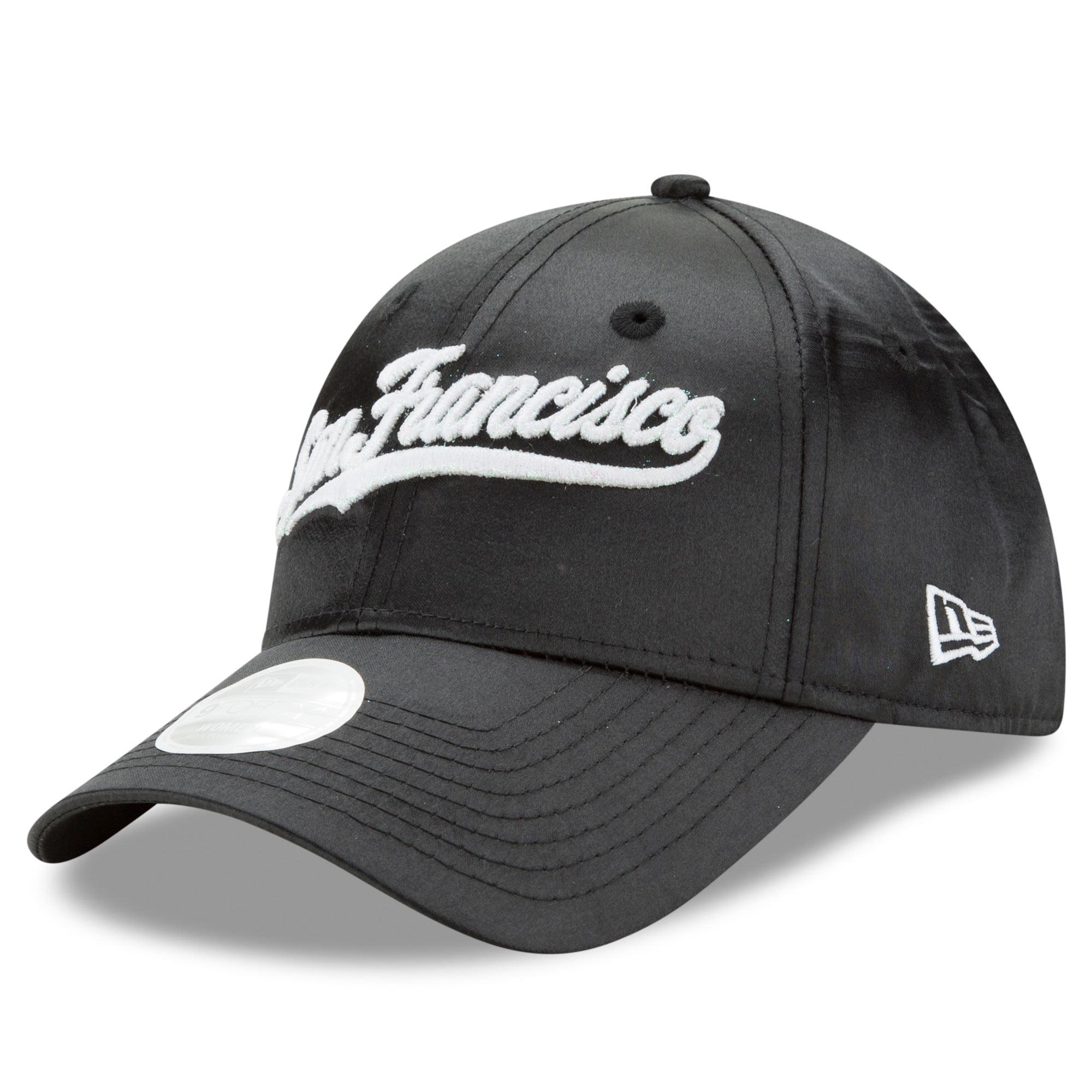 San Francisco Giants New Era Women's Satin Team Charmer 9FORTY Adjustable Hat - Black - OSFA