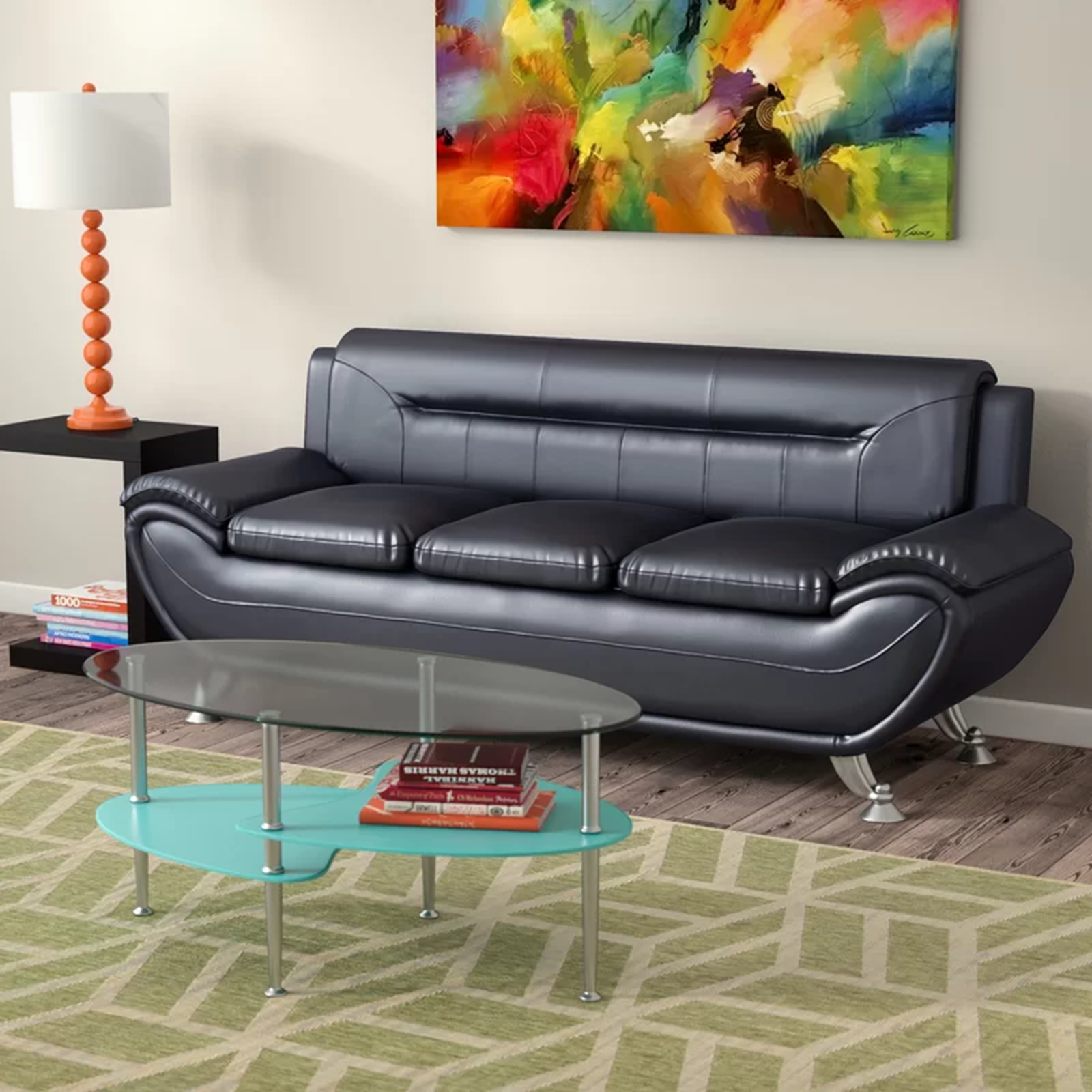 Greatime S2301 Gray leatherette sofa and Love seat Sets