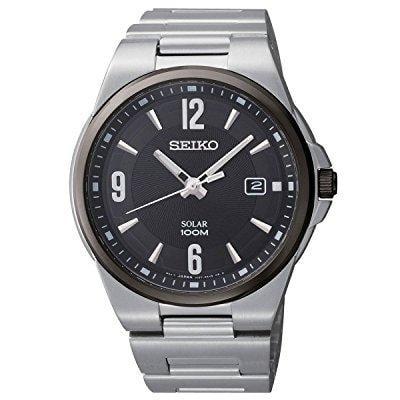 Seiko solar men's quartz watch sne211
