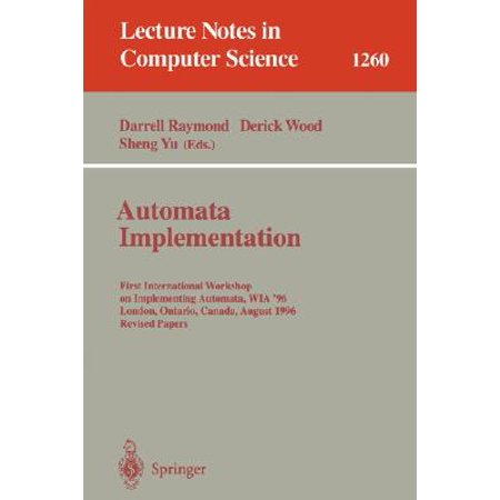 Automata Implementation : First International Workshop on Implementing Automata, Wia '96, London, Ontario, Canada, August 29 - 31, 1996, Revised Papers (Halloween Party London Ontario)