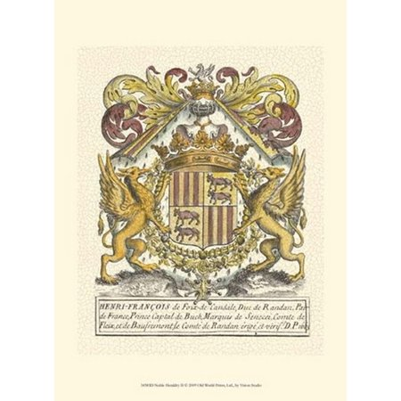 Noble Heraldry Ii Poster Print By Vision Studio  10 X 13