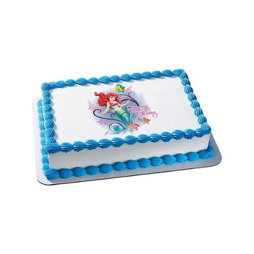 Little Mermaid Quarter Sheet Edible Cake Topper Each Party