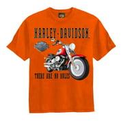 Little Boys' Tee, No Rules Motorcycle Shirt, Orange 0284198