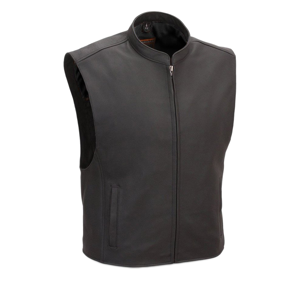 First Manufacturing Men's Club House Motorcycle Vest Black S