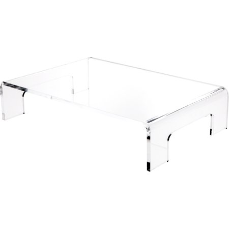 plymor brand clear acrylic riser w/ tray handles, 5 sizes