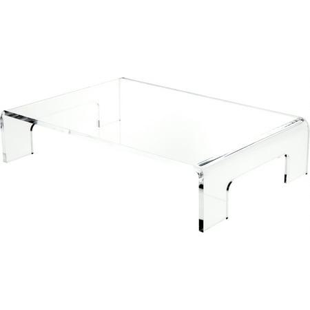 Clear Trays - Plymor Brand Clear Acrylic Riser w/ Tray Handles, 5 Sizes