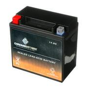 Chrome Battery Ytx14-Bs High Performance Power Sports Battery