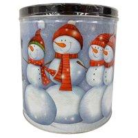 Signature Brands Snowmen Selfie Popcorn Tin, 24 Oz