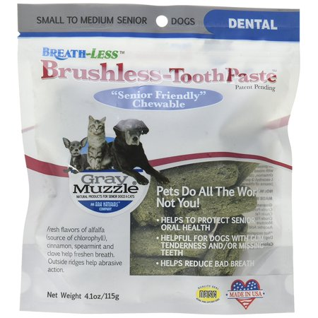 Ark Naturals Ark-4710064-1 Gray Muzzle Brushless Tooth Paste Chewable Dental Treats for Dogs, 4.1 oz, Ark Naturals was founded in 1996. For the.., By Ark (Best Bongs In The World For Sale)