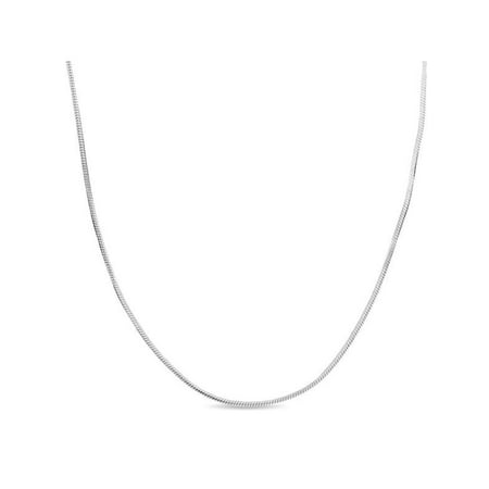 (Sterling Silver Snake Chain Necklace 18 inches)