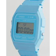 Casio Light Blue Digital Water Resistant Watch F91WC-2A
