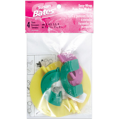 "Susan Bates Easy Wrap Pom Pom Maker, 1.25"", 1.75"", 2.25"", 3.5"""