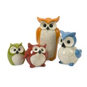 Colorful and Rare Set of 4 Enchanted Owls