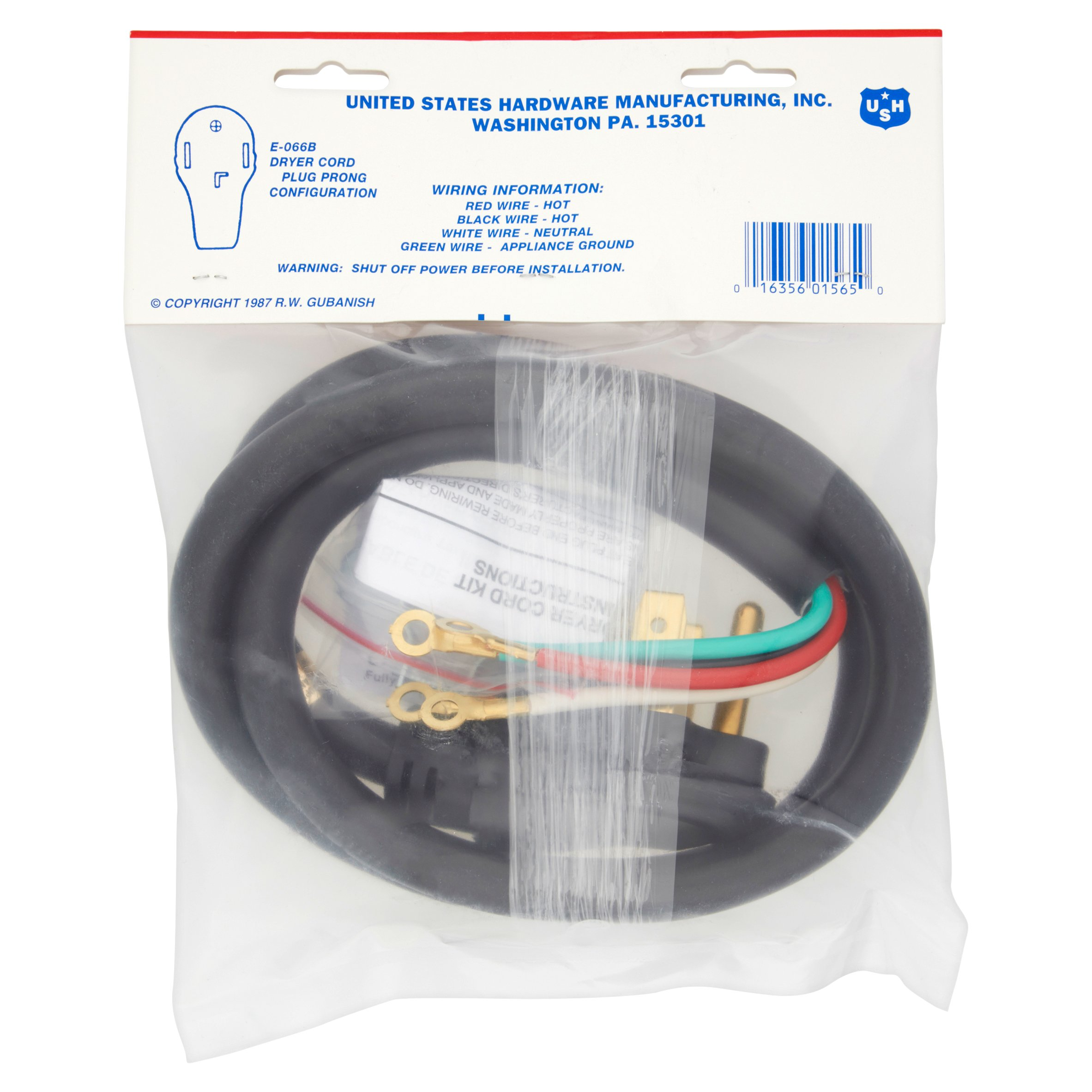 USH 4ft 30 Amp 125/250 V Mobile Home Dryer Cord - Walmart.com