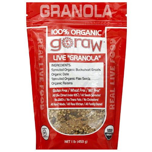 Go Raw 100% Organic Granola, 16 oz, (Pack of 6)
