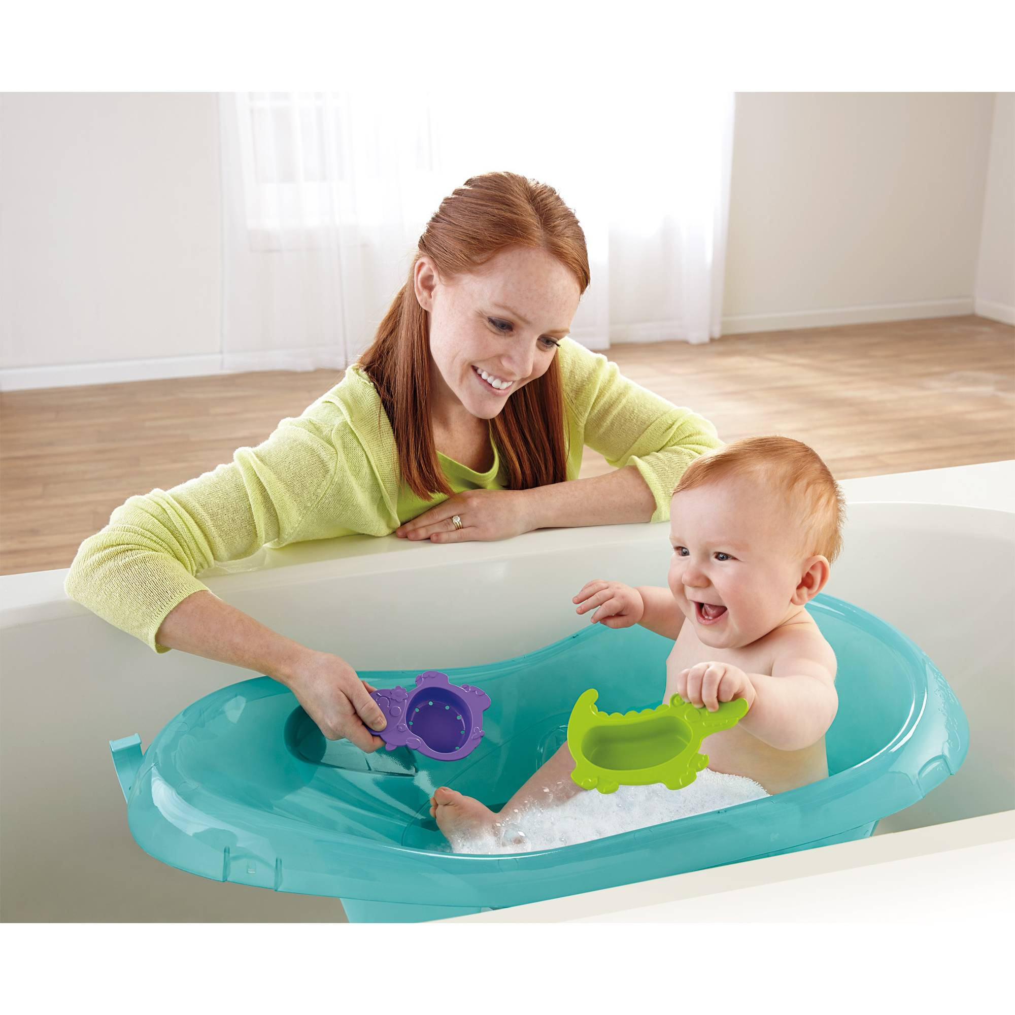 Fisher-Price Rainforest Friends Tub, Green - Walmart.com