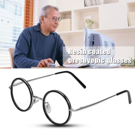 EECOO Magnifying glasses,Retro Round Resin Lightweight Magnifying Presbyopic Reading Glasses Fatigue Relieve Strength,Lightweight - Resin Glasses