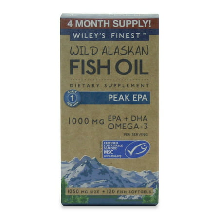 Wild Alaskan Fish Oil Peak EPA Wileys Finest 120 (Epa Gems 120 Softgels)