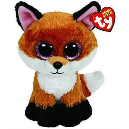 Ty Beanie Boos Buddies Slick the Fox - Medium (Beanie Boo Medium Fox)