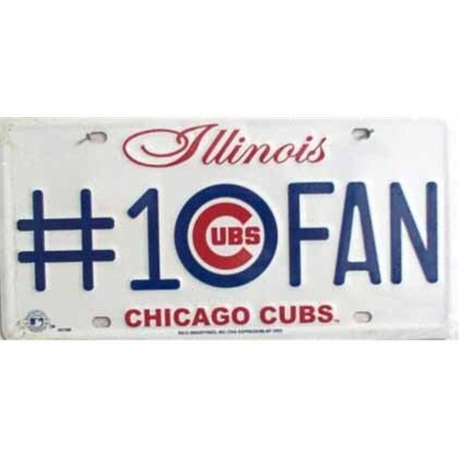 LP - 645 Cubs No. 1 Fan License Plate - 5310M