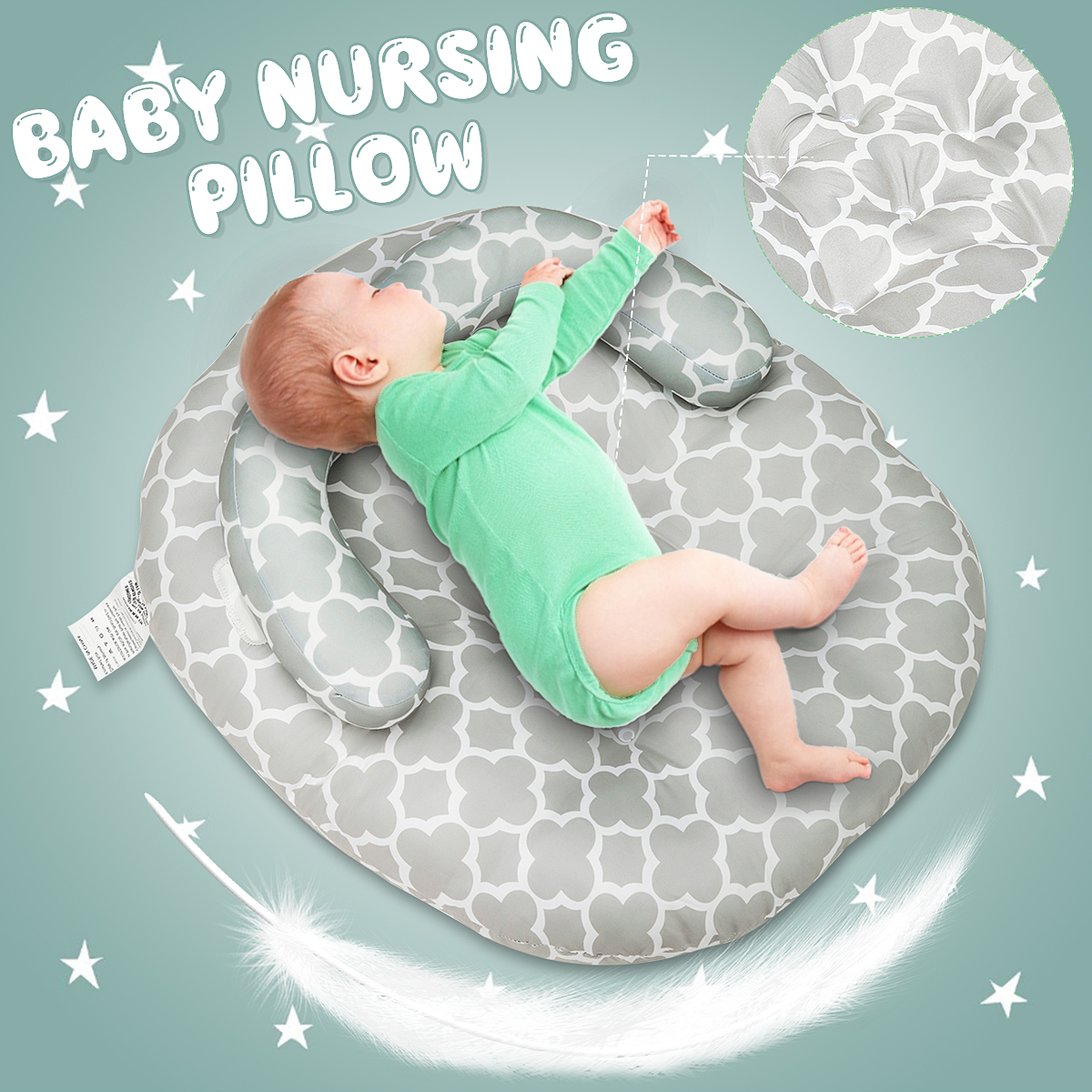 Newborn Lounger Infant Head Support Pillow Newborn Baby