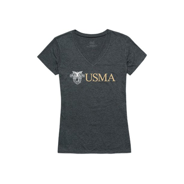 USMA United States Military Academy Army Black Nights Womens Institutional T-Shirt Heather Charcoal