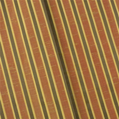 Burnt Orange/Multi Shantung Stripe Drapery Fabric, Fabric By the Yard