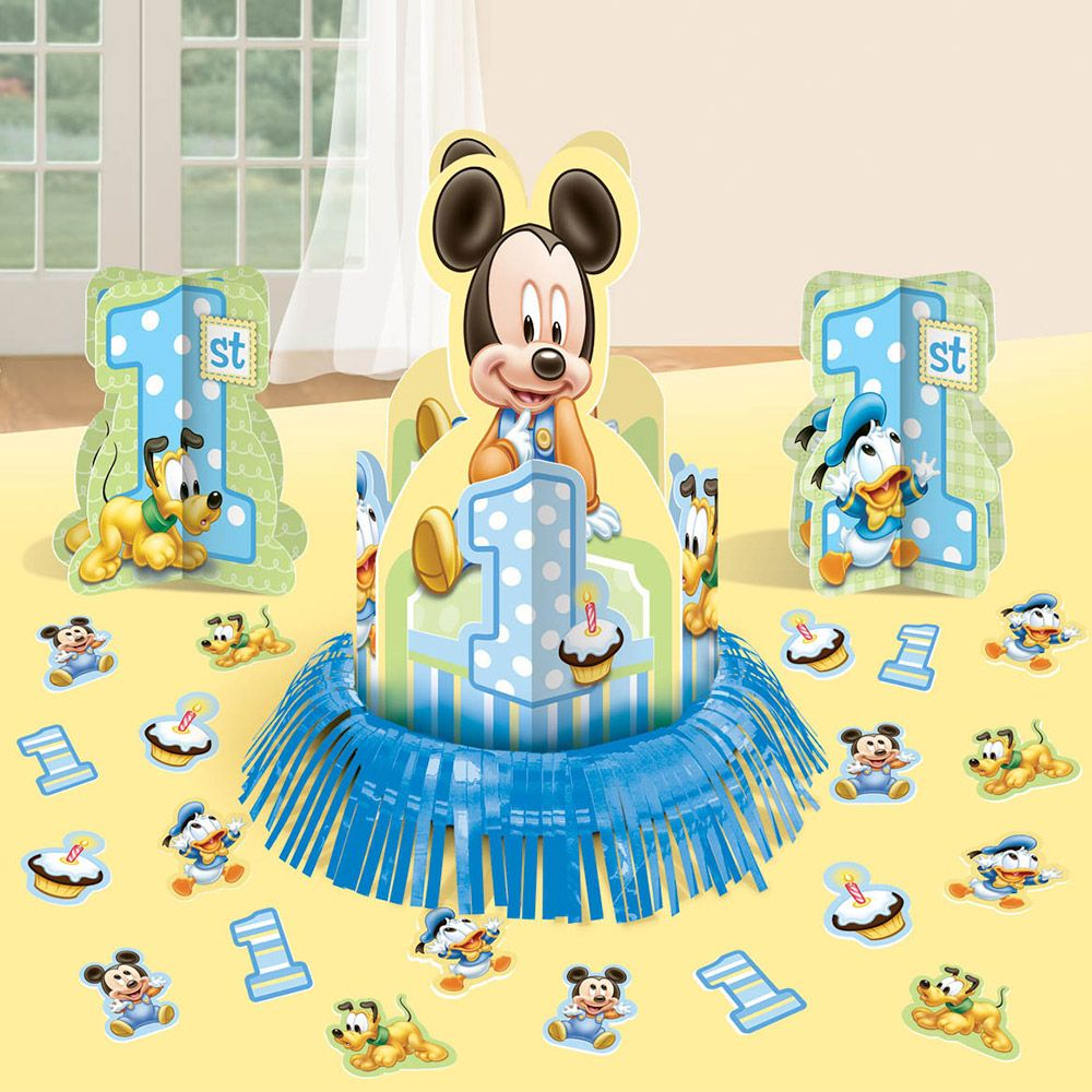 Mickey Mouse 1st Birthday Table Decorating Kit (Each) - Party Supplies
