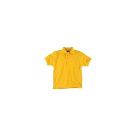 2c5af28c0 Gold Short Sleeve Pique Kids Unisex Polo Universal School Uniforms