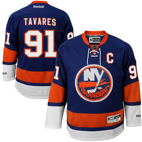 Men's Reebok John Tavares Royal New York Islanders Premier Jersey
