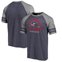 Columbus Blue Jackets Fanatics Branded Timeless Collection Vintage Arch Tri-Blend Raglan T-Shirt - Navy