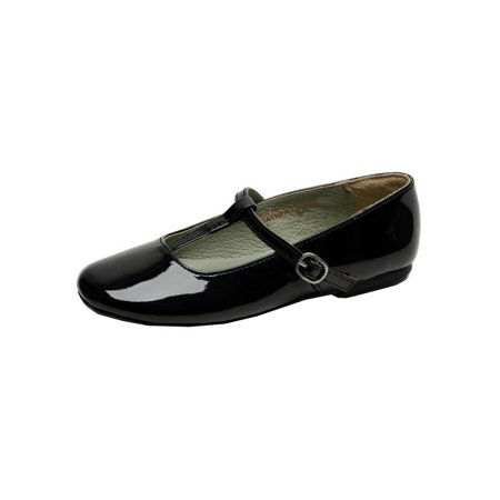 Patent Buckle - Pazitos Girls Patent Black T-Strap Buckle Casual Shoes