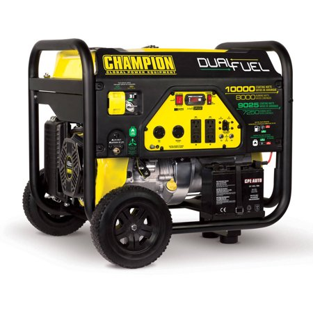 Champion 100297 8000-Watt Dual Fuel Portable Generator with Electric Start