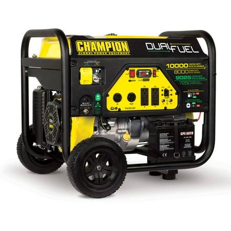 Champion 100297 8000-Watt Dual Fuel Portable Generator with Electric (Bearings Electric Generator)