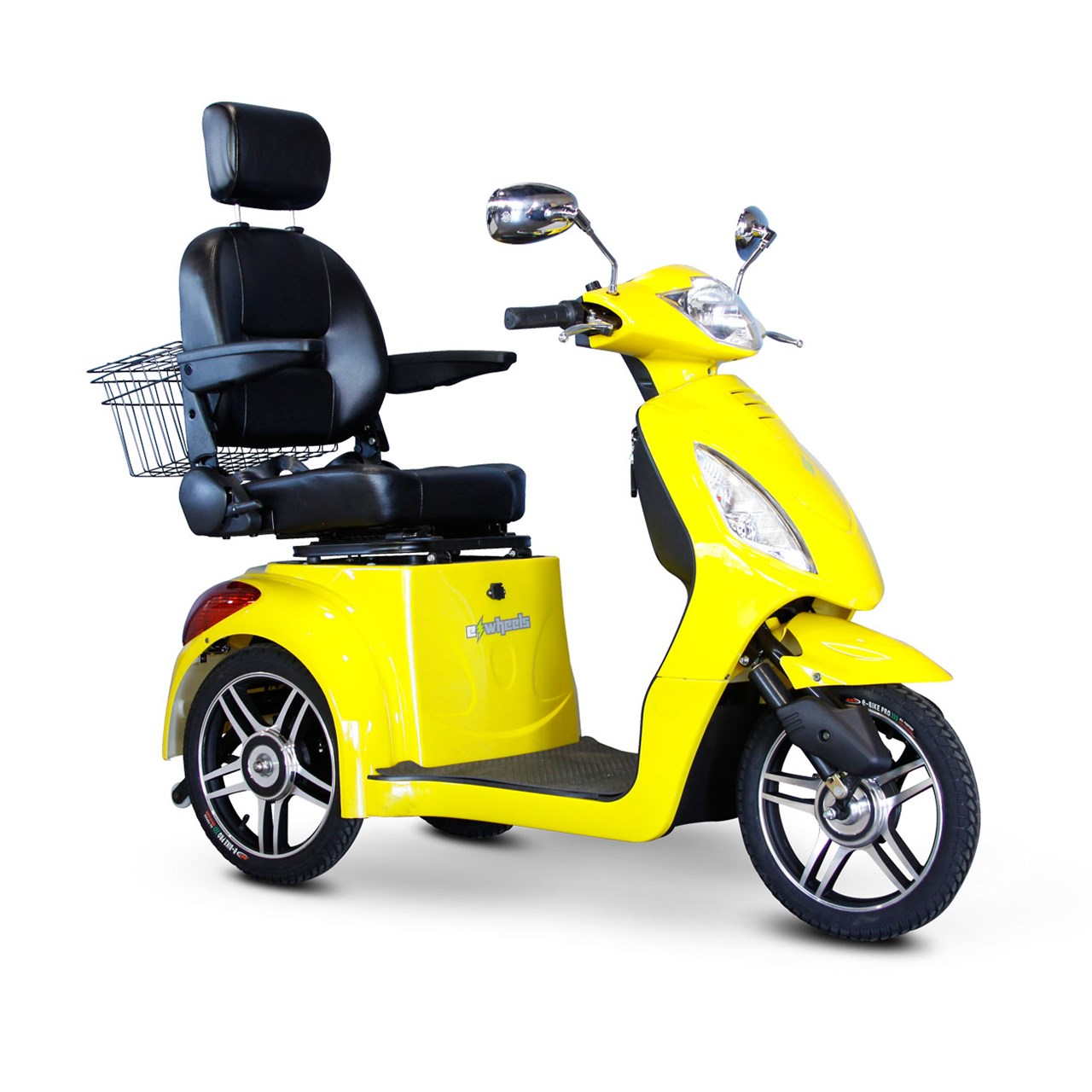 E-Wheels EW-36 3-Wheel Electric Senior Mobility Scooter Yellow by Electric Wheels LLC