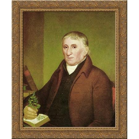 Portrait of Jacob Ritter Sr. 24x20 Gold Ornate Wood Framed Canvas Art by John Lewis (John Lewis 20 Off Code)