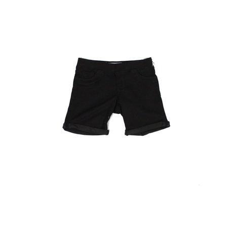 Tractr Obsidian True Girls Cuffed Pull On Stretch Shorts