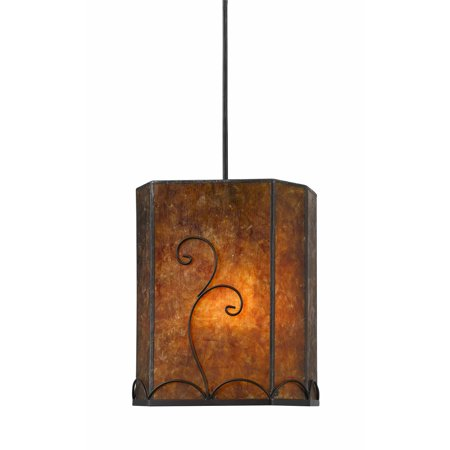 Classic Rust Outdoor Pendant (10.63 in. Tall Metal Pendant in)