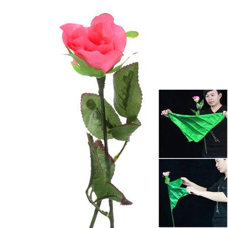 Burberry Silk Scarf - Magic flower Floatable Manmade Plastic Rose + Silk Scarf