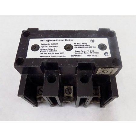 EL3003R MOTOR CIRCUIT PROTECTOR CURRENT LIMITER ATTACHMENT - TYPE EL - 3 POLE 3 AMP