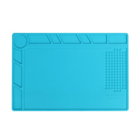 Magnetic Heat Insulation Pad Silicone Desk Mat for Soldering Iron, Phone and Computer Repair, Gift for Techie ()